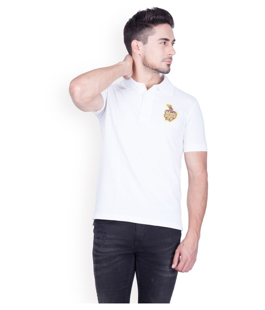 Kolkata Knight Riders White Polo T-Shirt