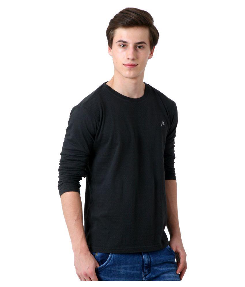 Roman Island Black Round T-Shirt