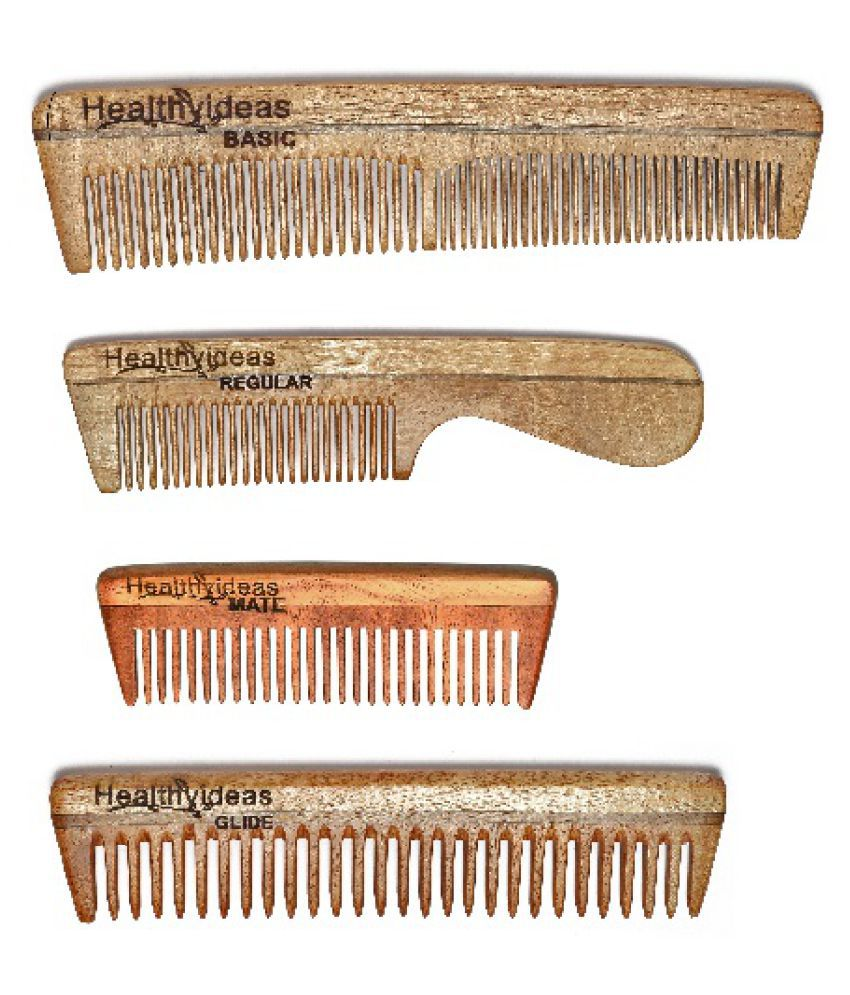 HealthyIdeas Wide tooth Comb Pack of 4