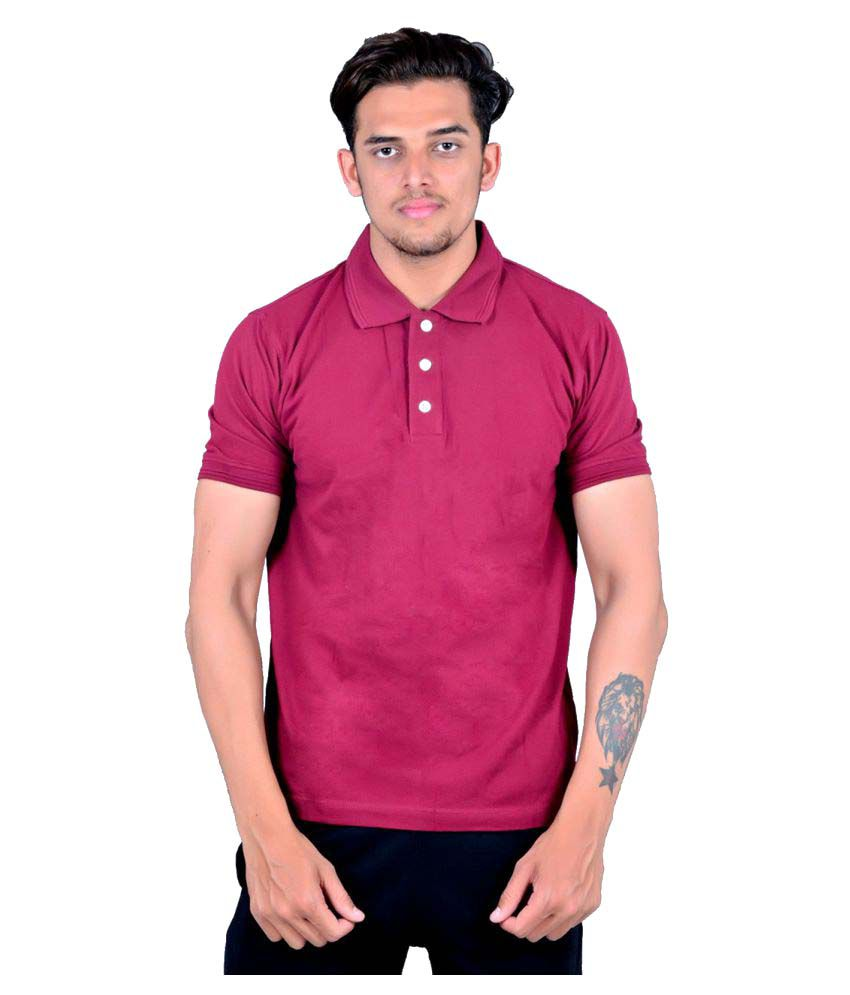 Zovil Pink Cotton Polo T-Shirt