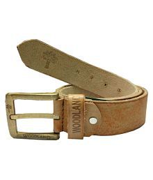 Woodland Tan Leather Casual Belts