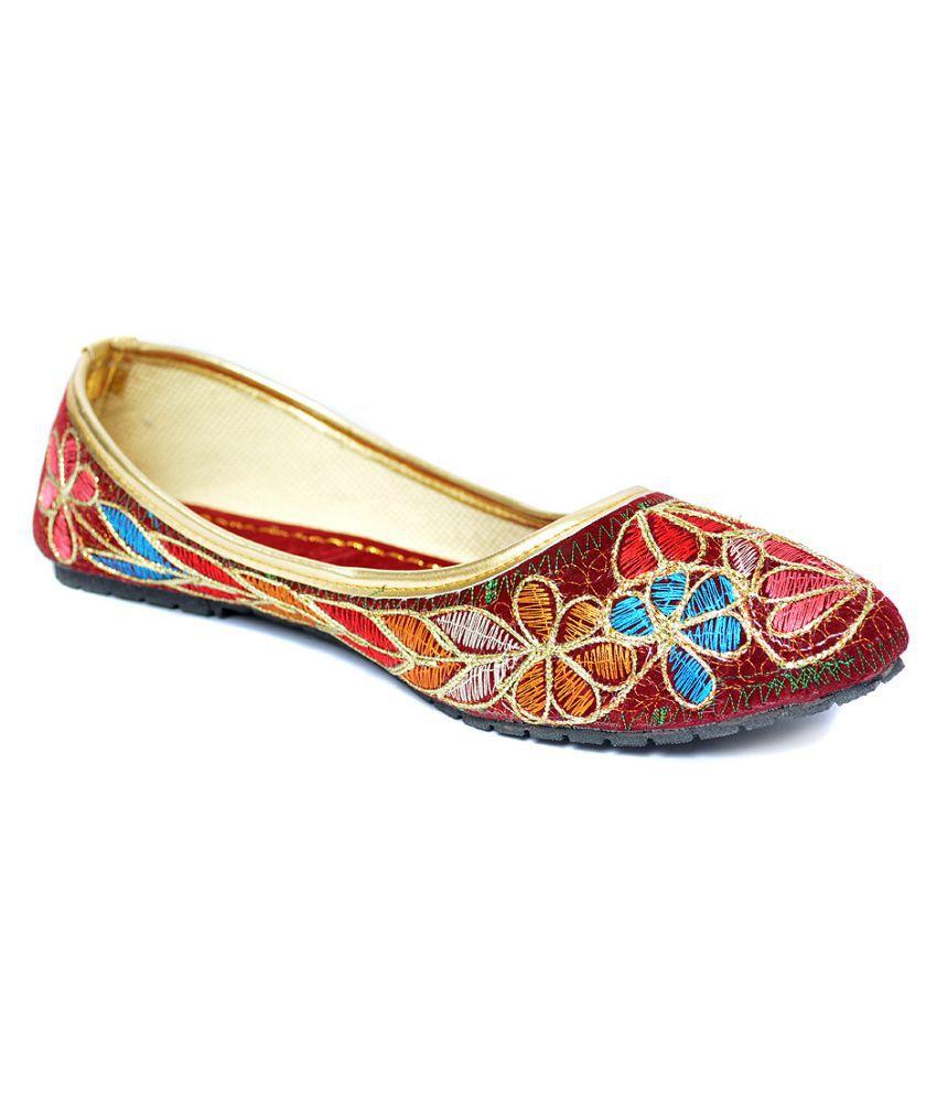 Indirang Multi Color Flat Ethnic Footwear