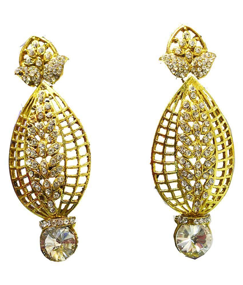 Al Marjaan Jewels Golden RhineStone Hangings