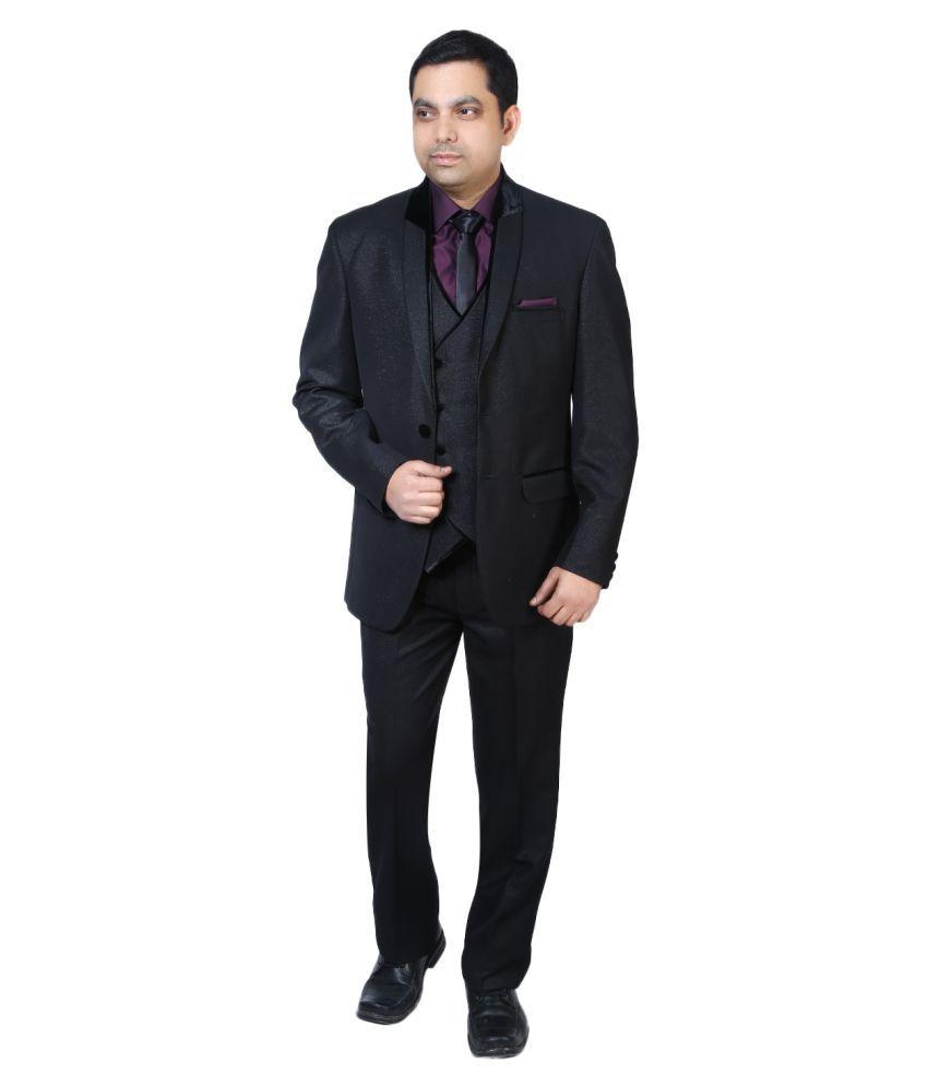 Bindals Black Solid Party Suit