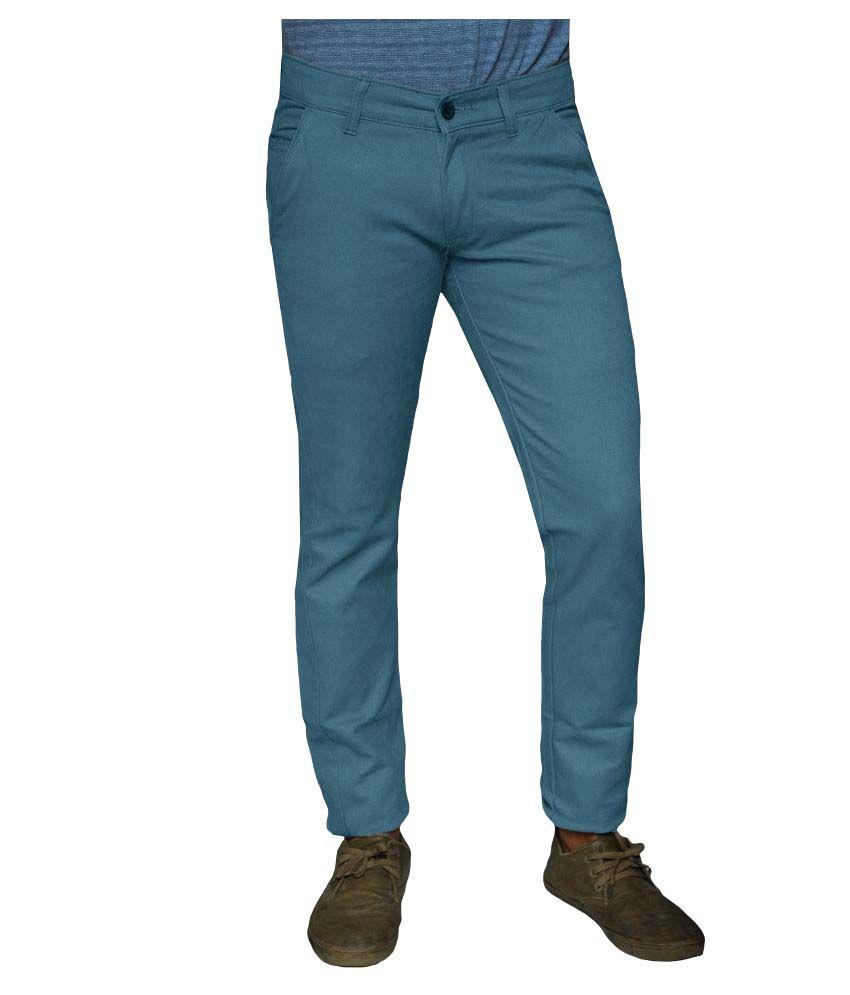 Damler Blue Slim -Fit Flat Trousers