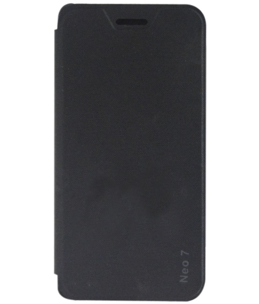 Oppo Neo 7 Flip Cover by Rdcase - Black