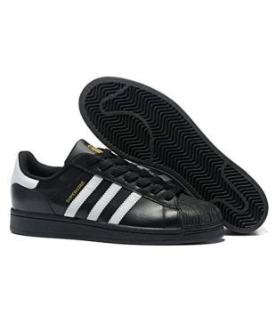 best service 19a9a c958f Adidas Superstar Sneakers Black Casual Shoes - Buy Adidas Superstar  Sneakers Black Casual Shoes Online at Best Prices in India on Snapdeal