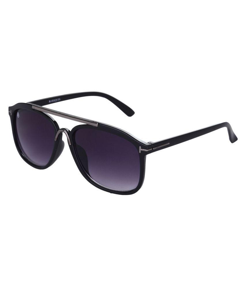 Markques Black Aviator Sunglasses ( Optra )