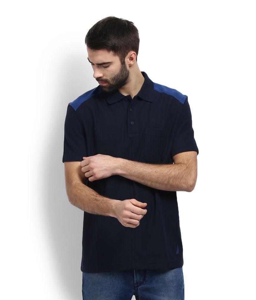 Nautica Blue Polo T-Shirt