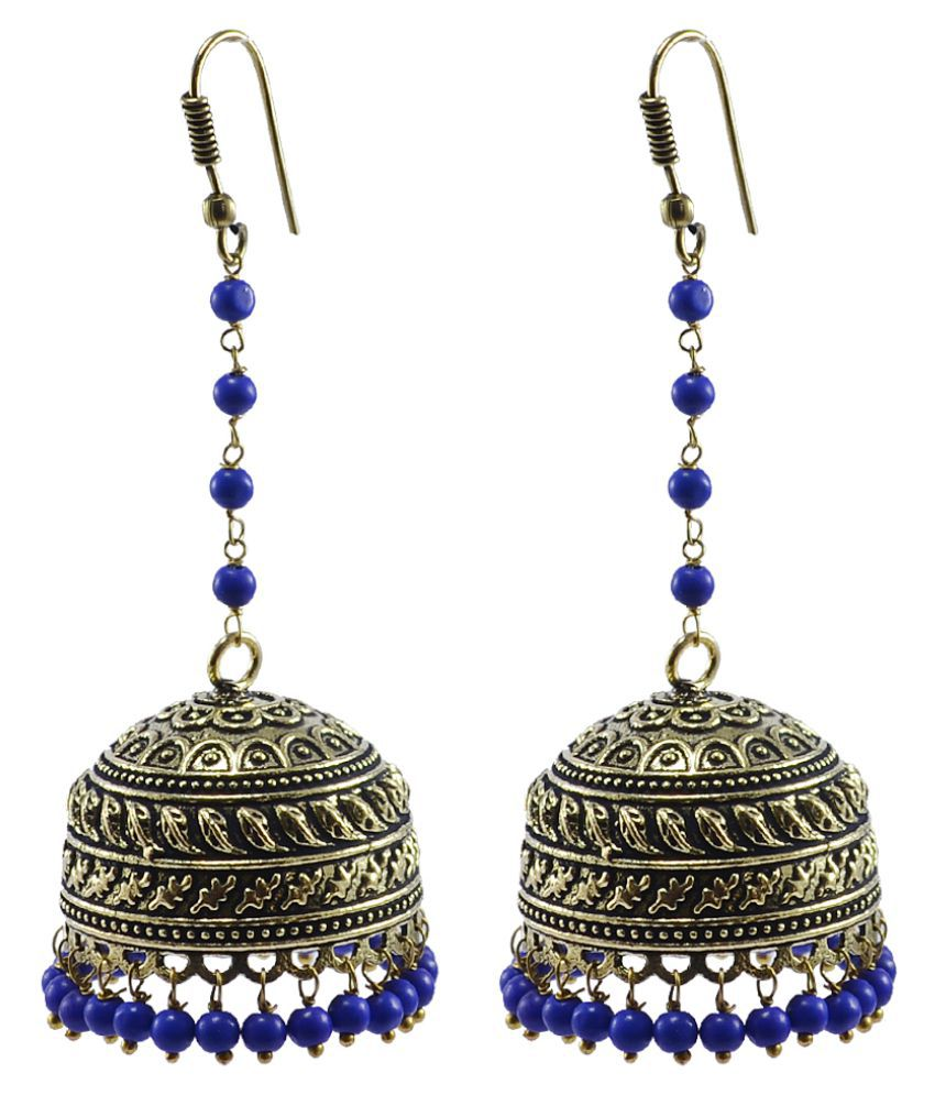 Silvesto India Multi Color Brass Jhumki