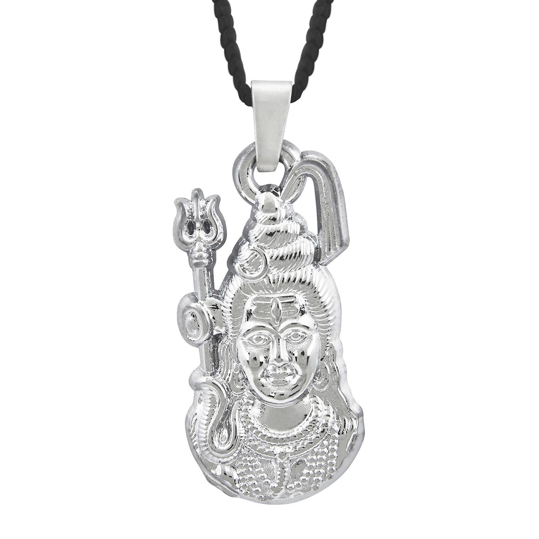 Shining Jewel Shiva Shankar Silver Pendant