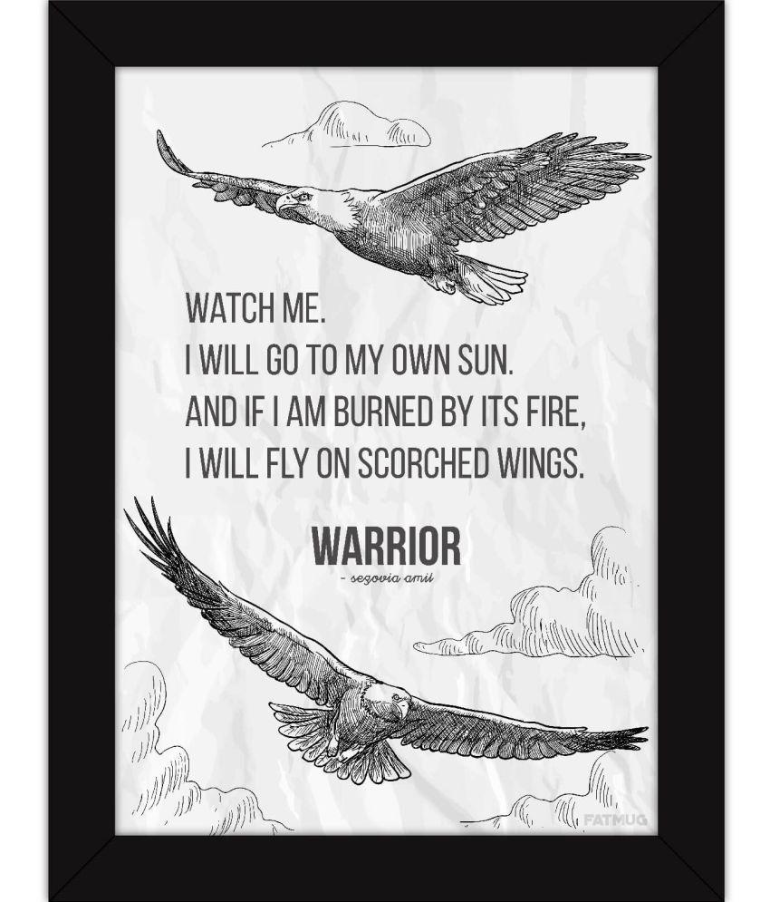 Fatmug Inspirational Posters With Frames - Warrior Poem Acrylic Wall ...