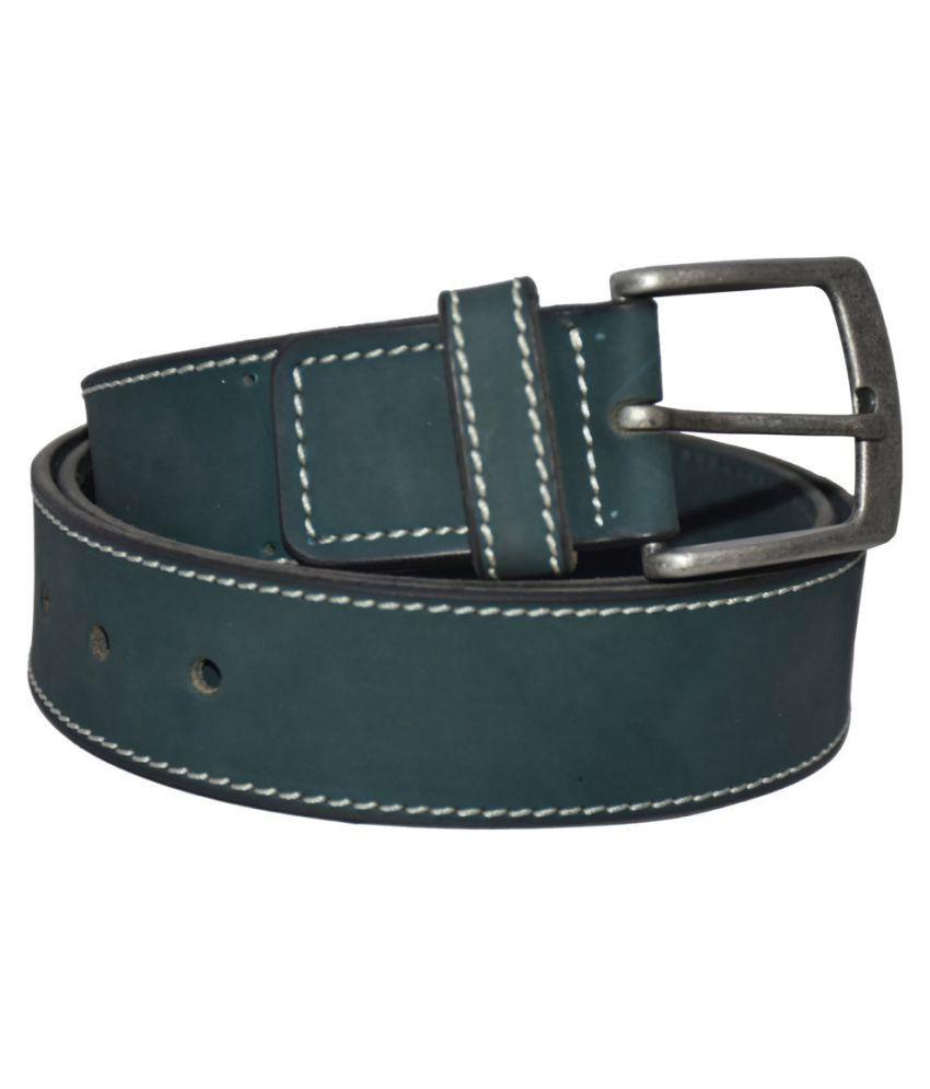 Pellezzari Green Leather Casual Belts