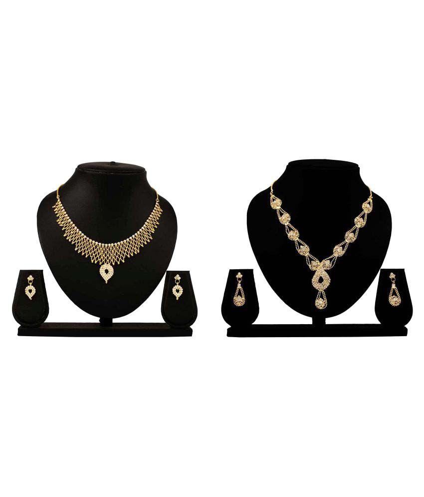 Bahucharaji Creation Presents Golden Alloy Necklace Set Pack of 2