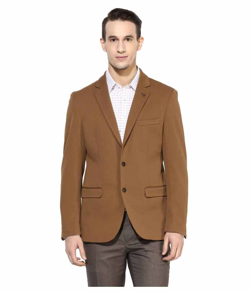 Turtle Brown Solid Formal Blazers