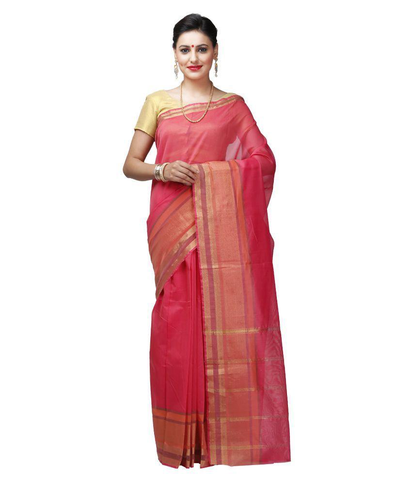 India Sari House Pink Cotton Saree