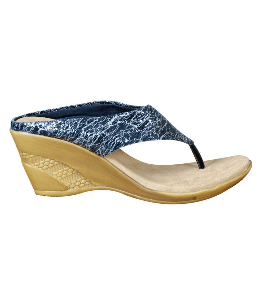Aagaman Fashions Blue Wedges Heels