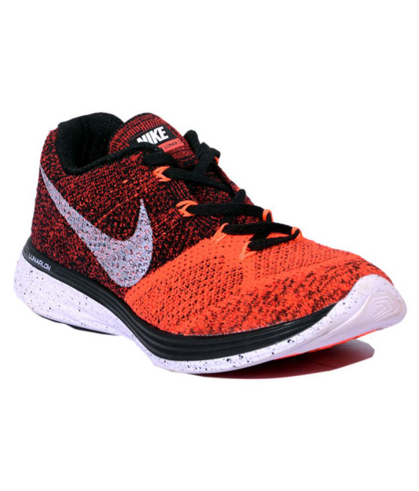 huge discount 8de84 75341 Nike Lunar Flyknit 3 Red Running Shoes - Buy Nike Lunar Flyknit 3 Red  Running Shoes Online at Best Prices in India on Snapdeal