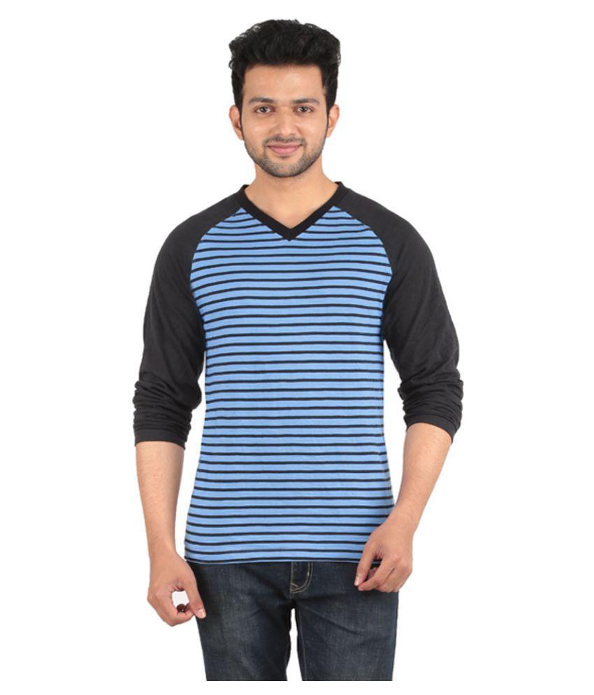 Yukth Blue V-Neck T-Shirt