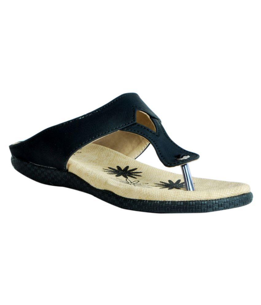 Aagaman Fashions Black Flats