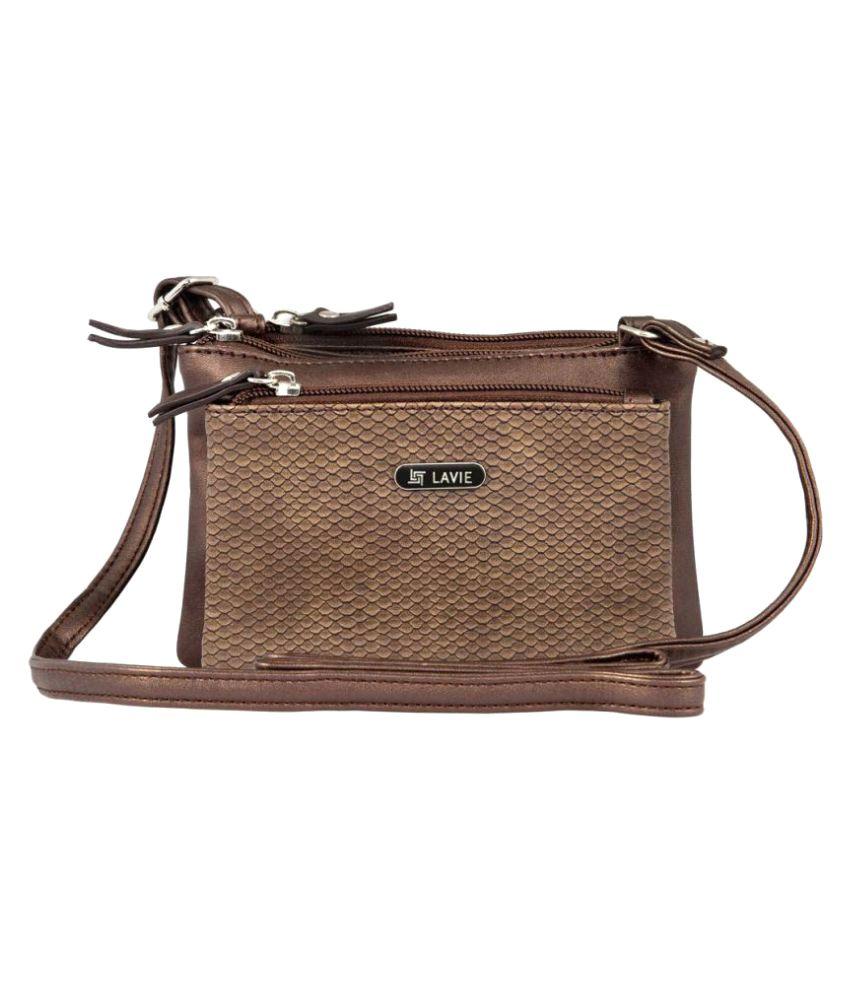 Lavie Brown P.U. Sling Bag