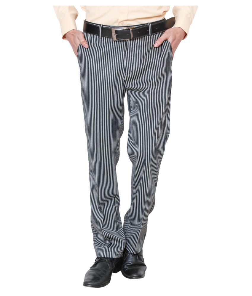 Uniform Bucket Multicolored Regular -Fit Flat Trousers