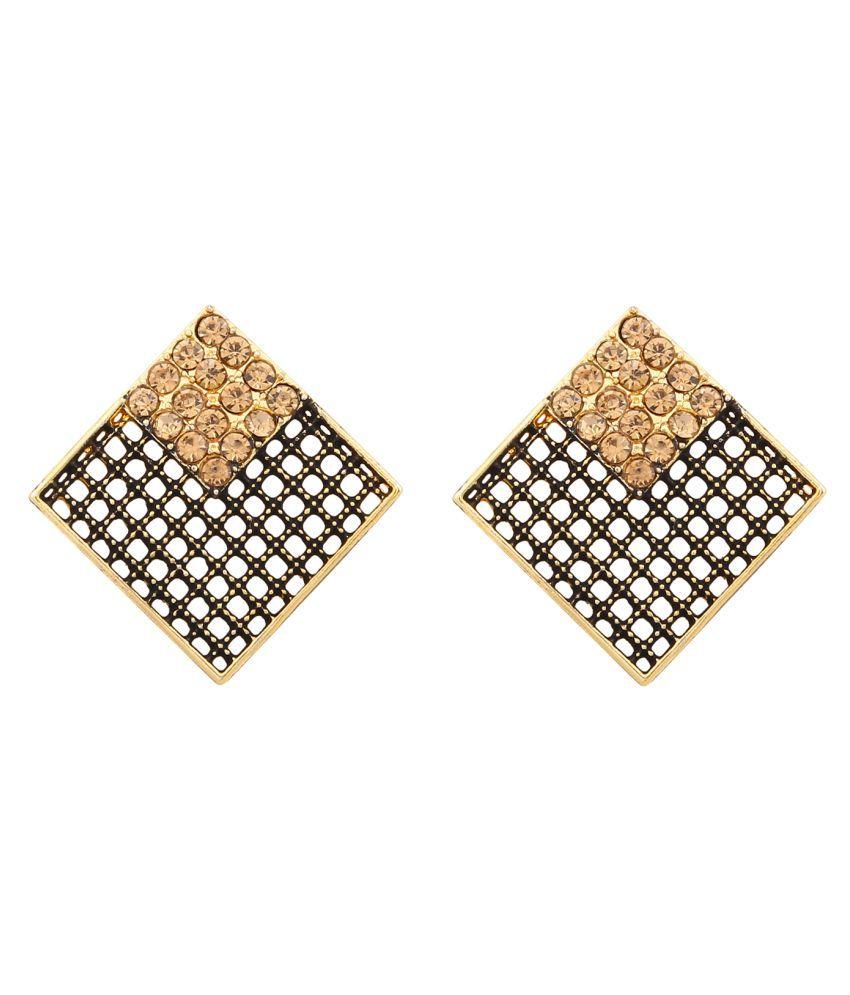 Prita's Square Shape Daily Wear Stud Earrings For Girls & Women