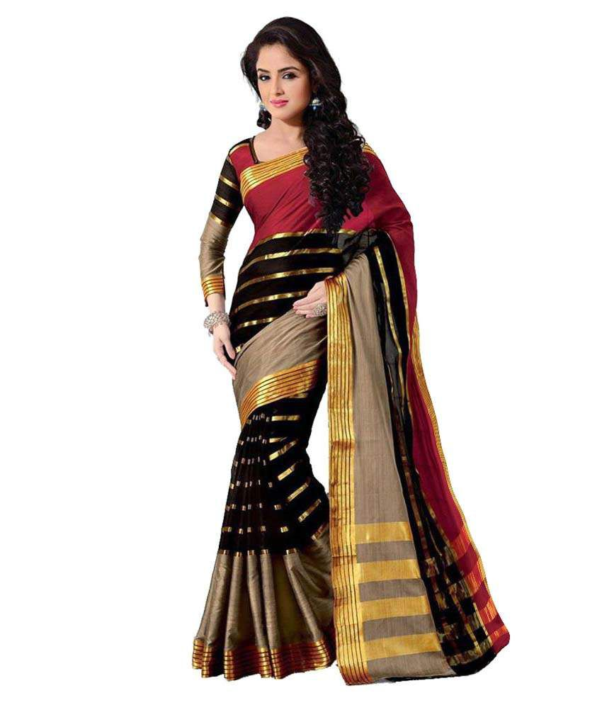 Raul Zone Multicoloured Cotton Silk Saree
