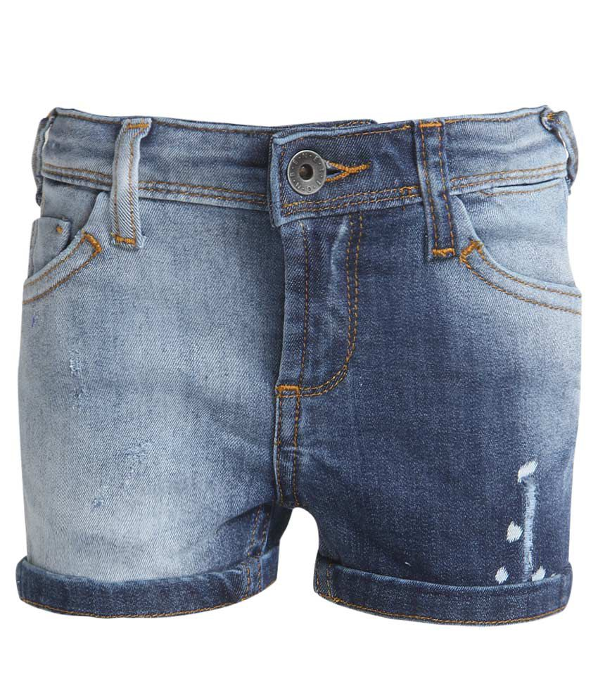 United Colors of Benetton Blue Girls Shorts