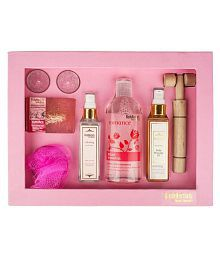 BodyHerbals Rose Essentials Gift Set Aromatherapy Bath Kit Pack of 7