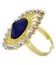 Slks India Craft Multicolour Alloy Wedding & Engagement Fashion Designer Ring For Women