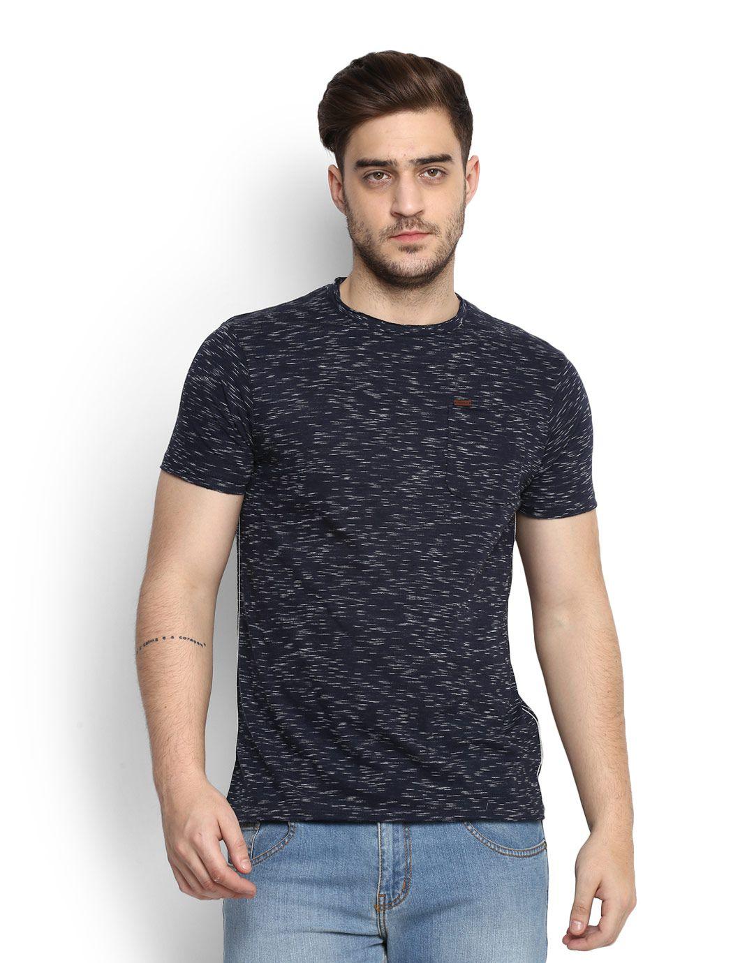 People Navy Round T-Shirt