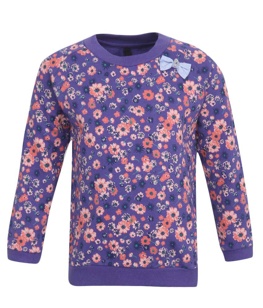 United Colors of Benetton Blue Girls Sweatshirts