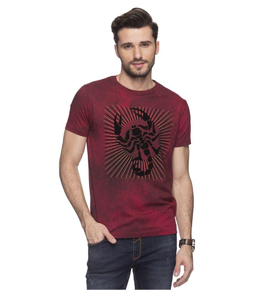Status Quo Maroon Round T-Shirt