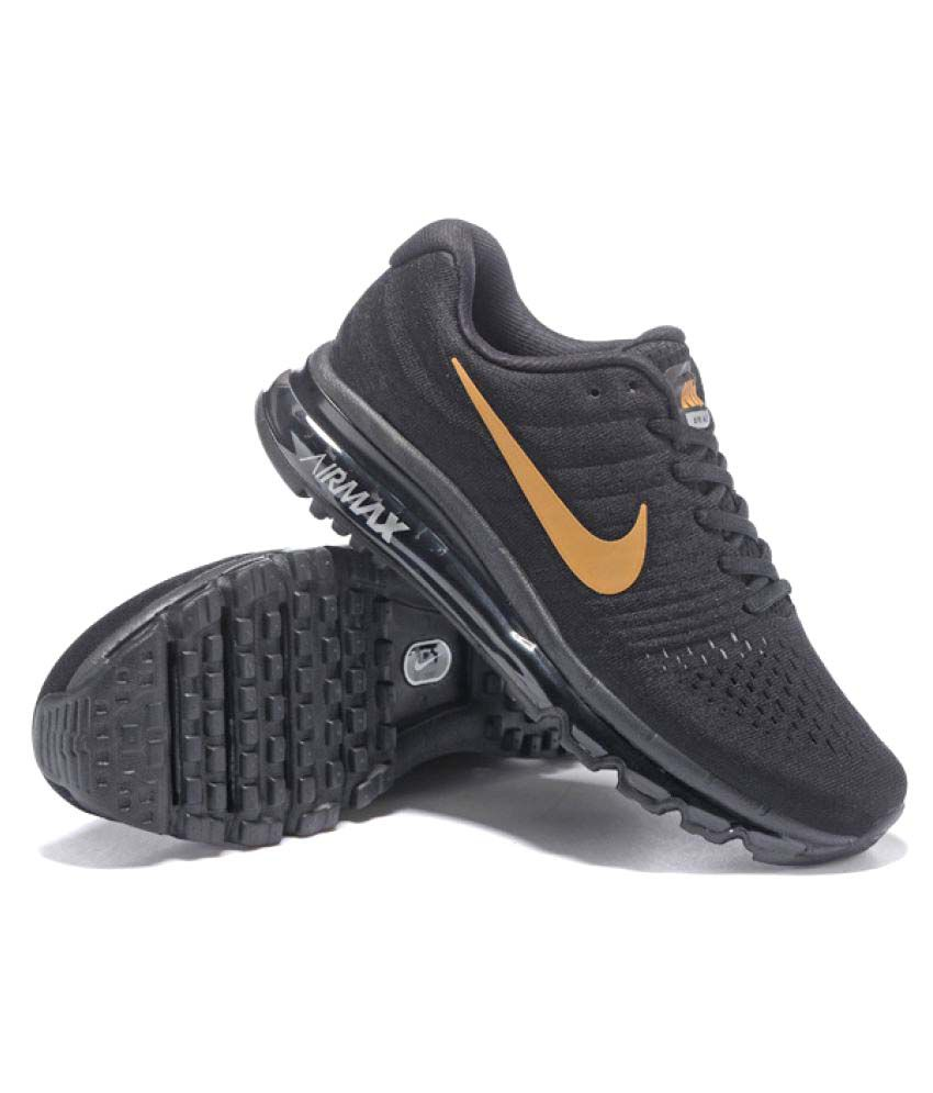 a49fb6e1b6c1 Nike Air Max 2017 Black Running Shoes - Buy Nike Air Max 2017 Black ...