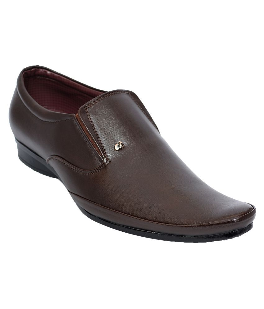 Desi Juta Brown Office Non Leather Formal Shoes