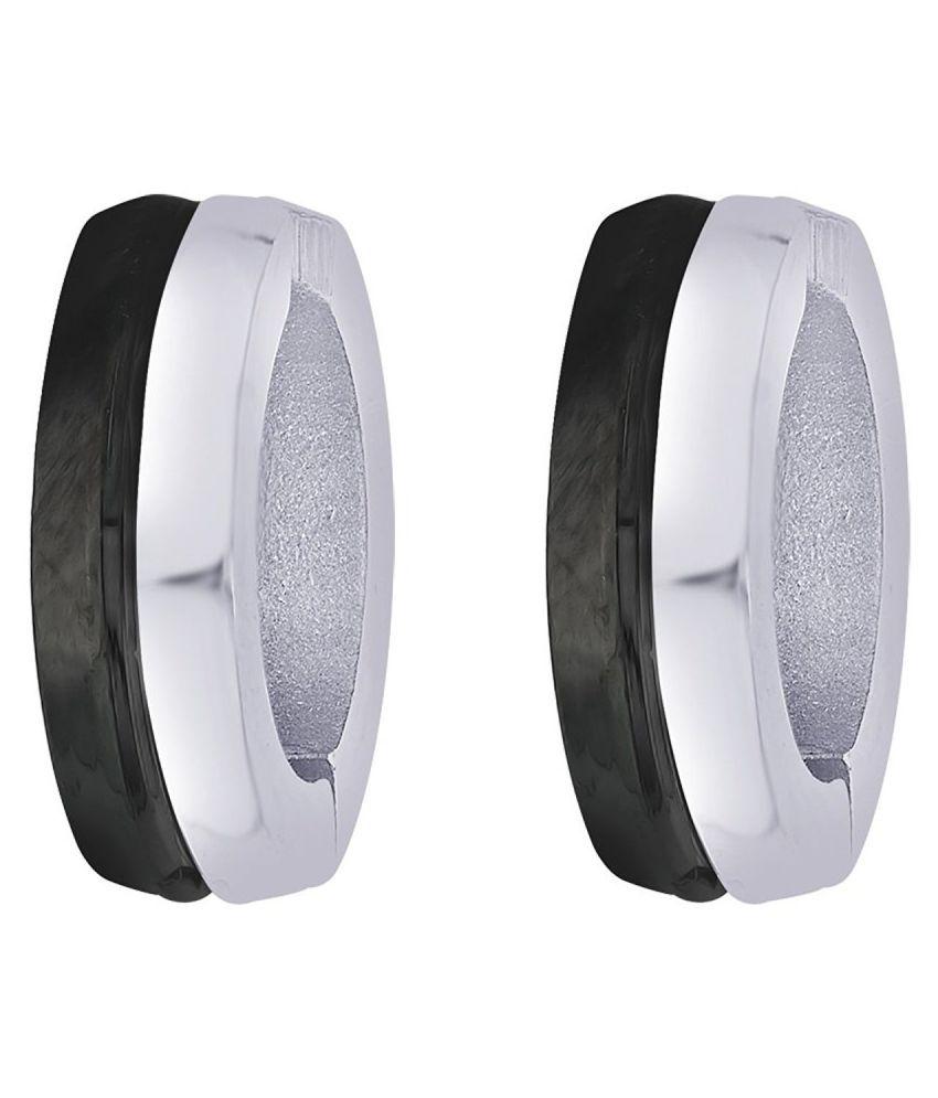 Chandrika Pearls Daily Wear Stainless Steel Hoop Earrings For Mens & Boys