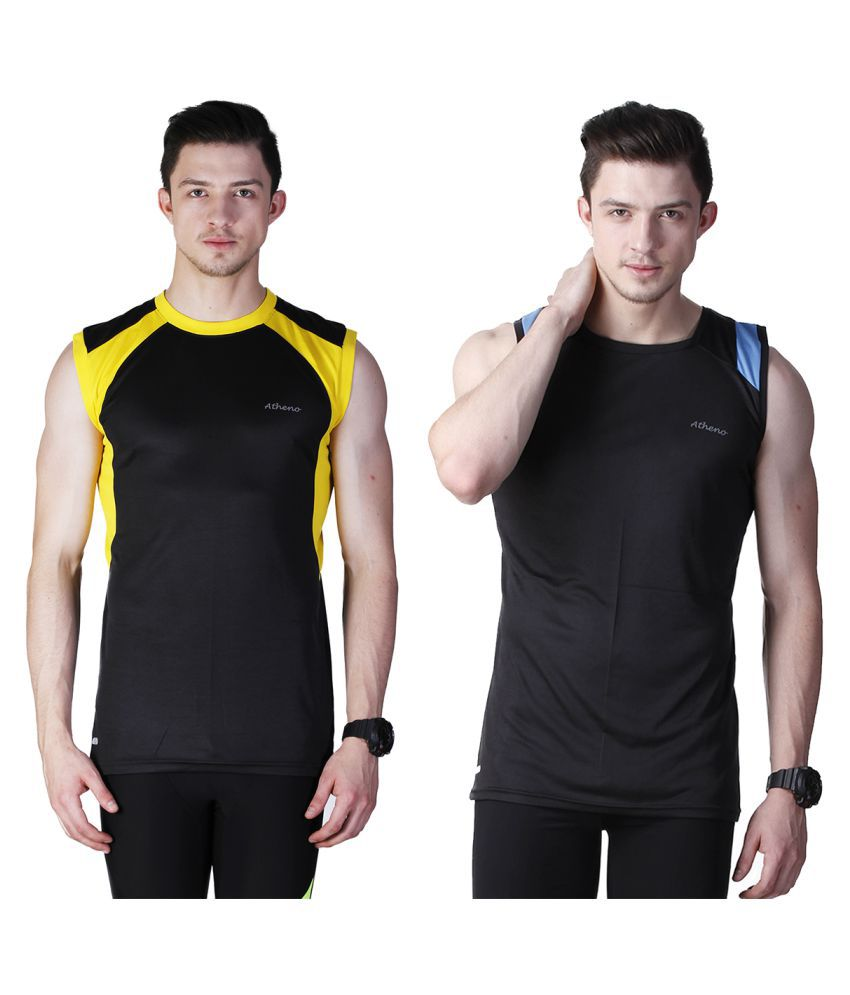 Atheno Multi Round T-Shirt Pack of 2