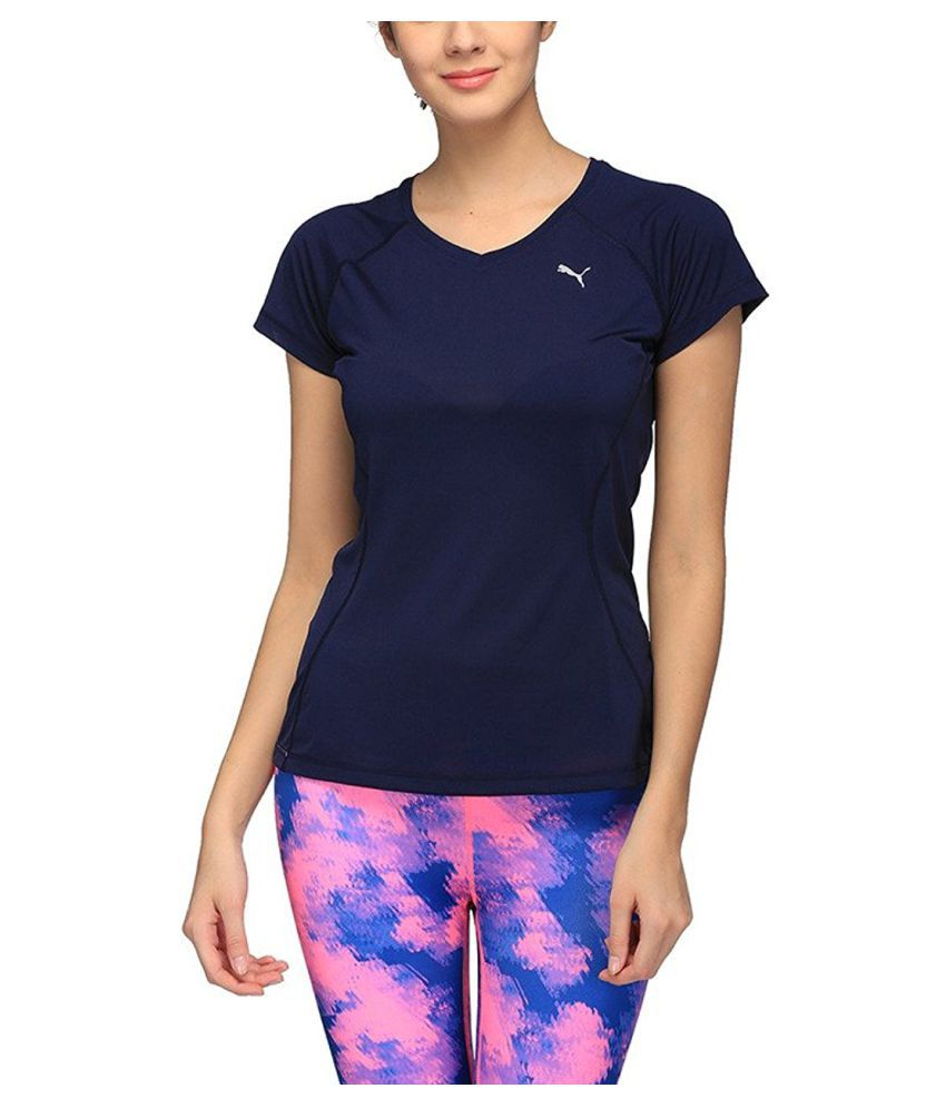 e1db65eae9b7 Puma Women s Plain T-Shirt  Buy Online at Best Price on Snapdeal