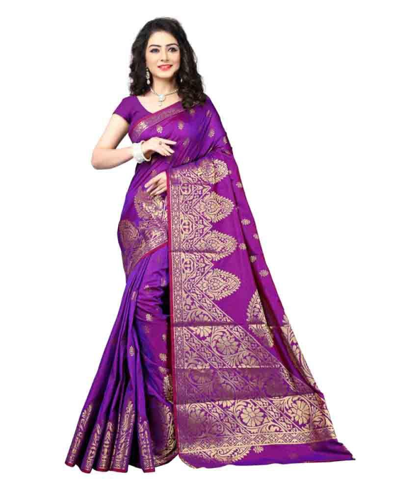 Saloni Designer Purple Banarasi Silk Saree