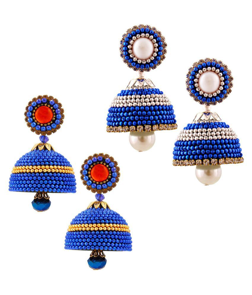 Vivan Creation  Set of Two Paper Quilling Multicolor Jhumki