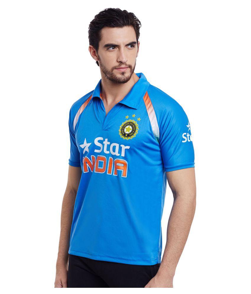 Sportigo Replica ODI India Team Cricket Jersey - 2017 (M)