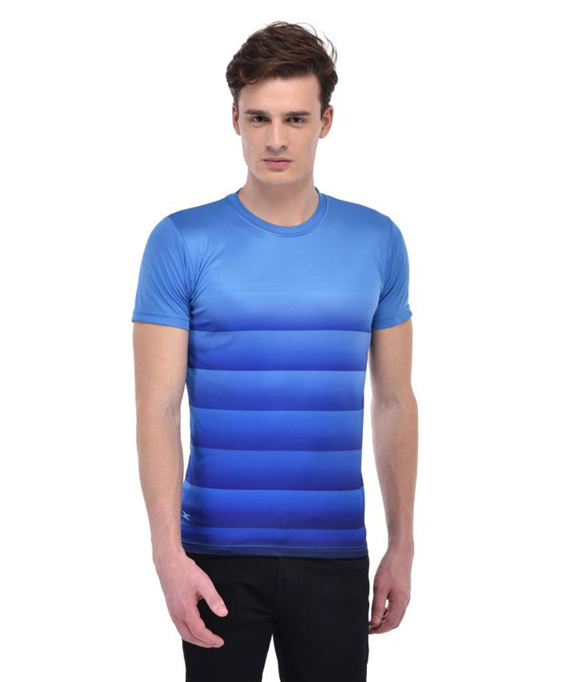 Zagros Blue Polyester T-Shirt