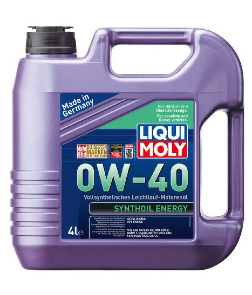 liqui moly synthoil 0w 40 petrol diesel engine oil 4 l. Black Bedroom Furniture Sets. Home Design Ideas