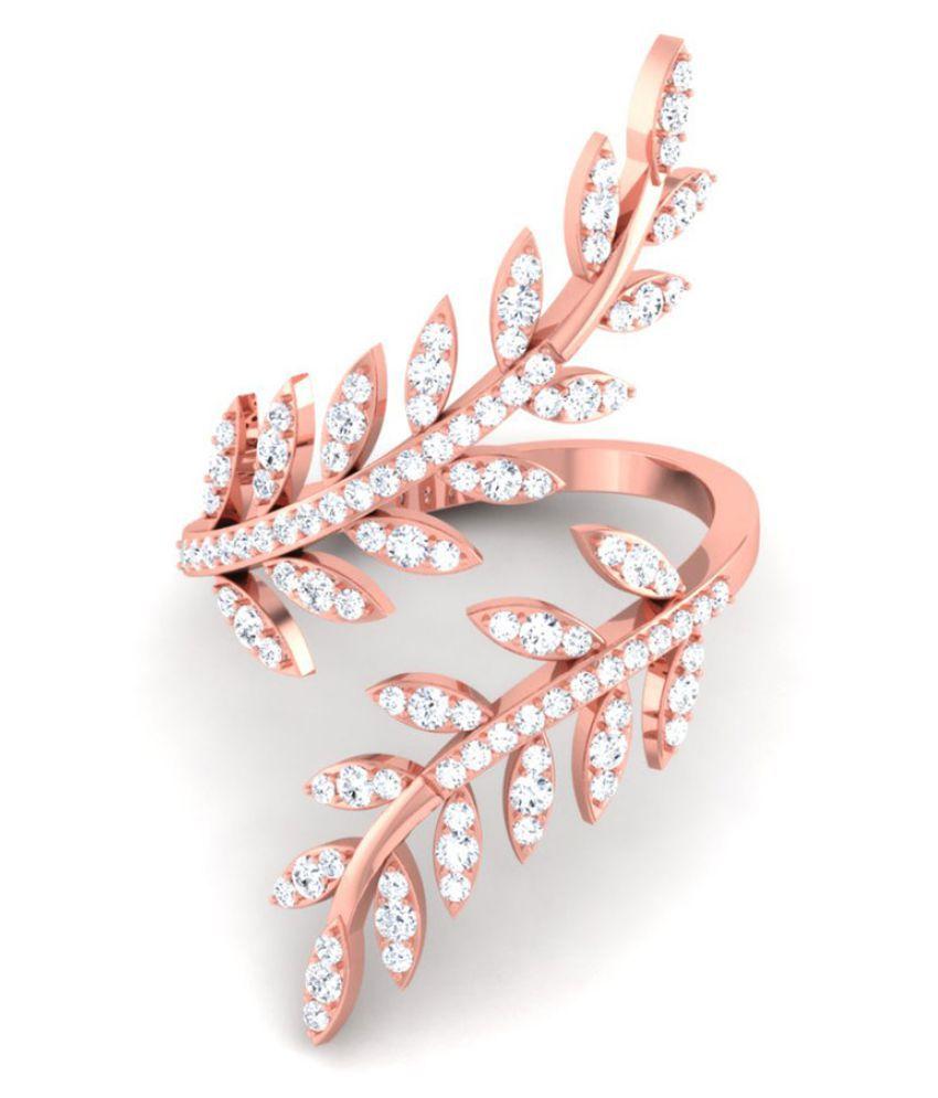 Julie & Juhi 92.5 Silver Cubic zirconia Ring