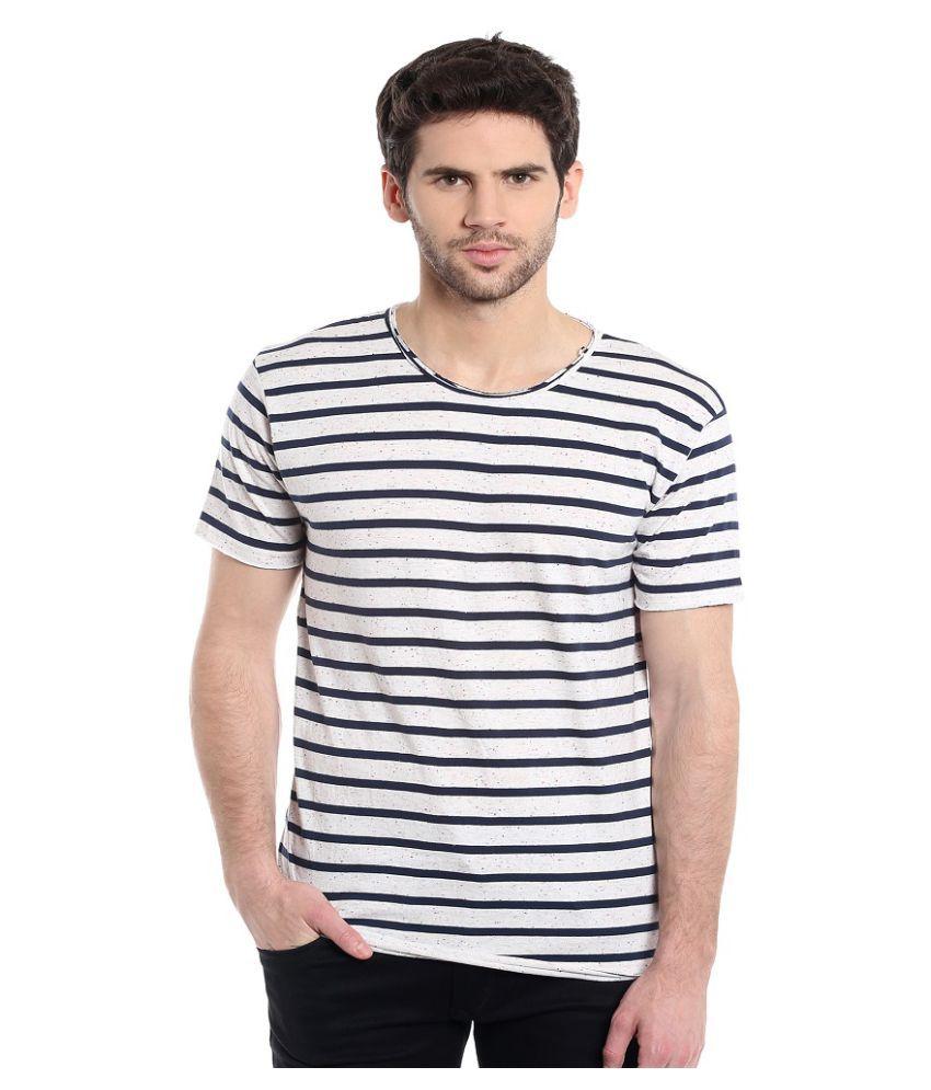 Masculino Latino White Round T-Shirt