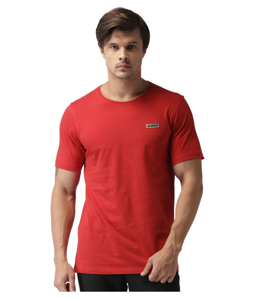 2GO Cardio Red Half sleeves Round Neck T-shirt