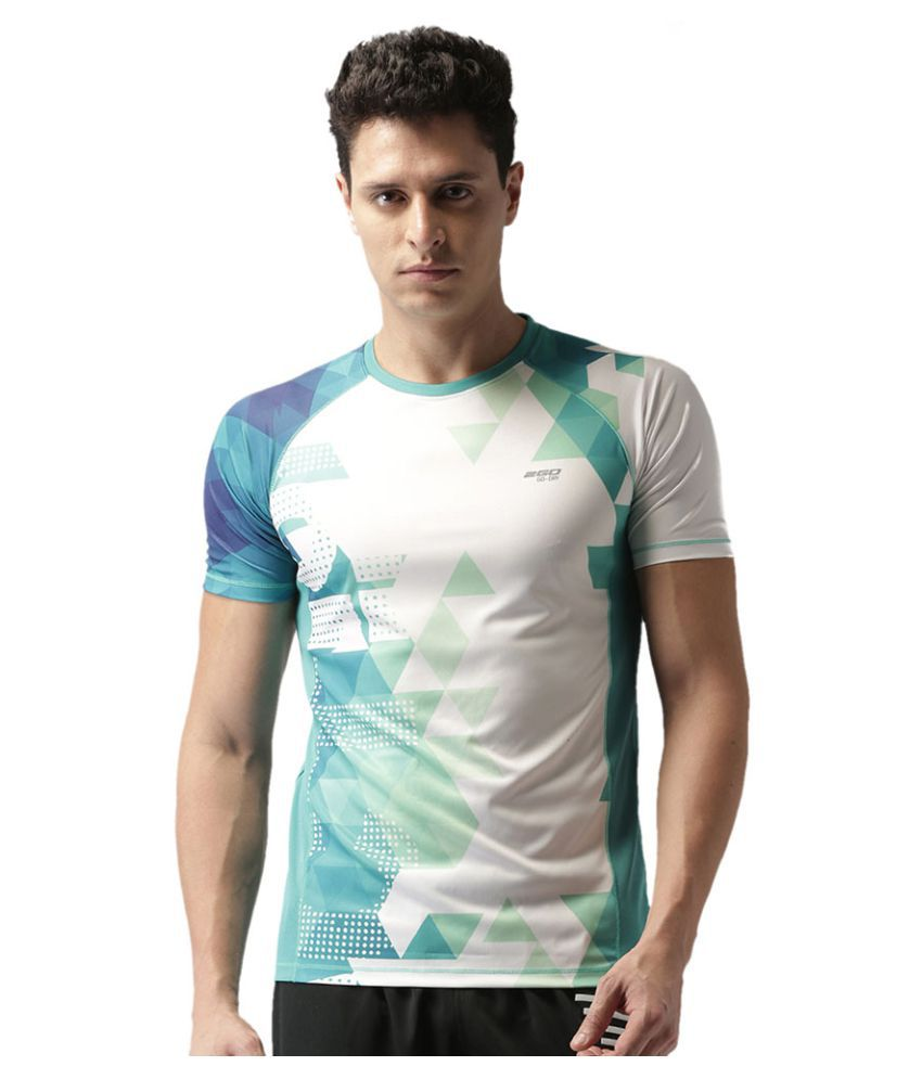 2GO Round neck Teal Print Half sleeves T-shirt
