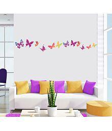 NewWayDecals Amazing Butterflies Vinyl Multicolour Wall Sticker - Pack Of 1