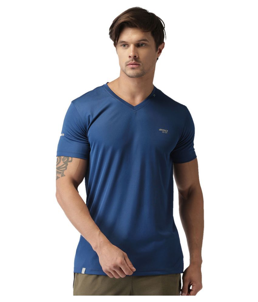 2GO Dare Navy GO Dry V-neck half sleeves T-shirt
